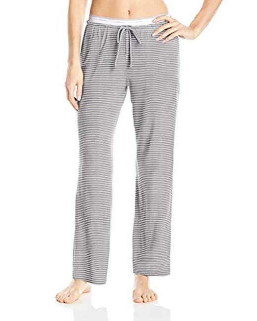 DKNY - Gray Modal Knit Lounge Pant - Lyst