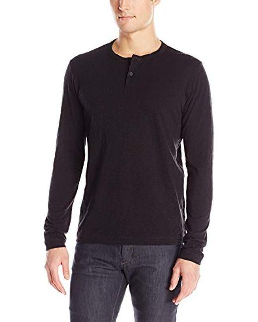 Theory - Black Gaskell Hl Nebulous Long-sleeve Henley Shirt for Men - Lyst