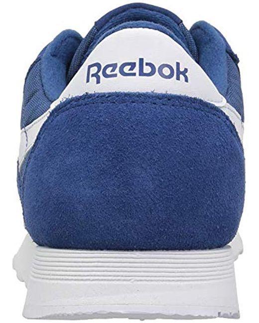 0a0c8b2bc6ef ... Reebok - Blue Classic Nylon Sneaker for Men - Lyst ...