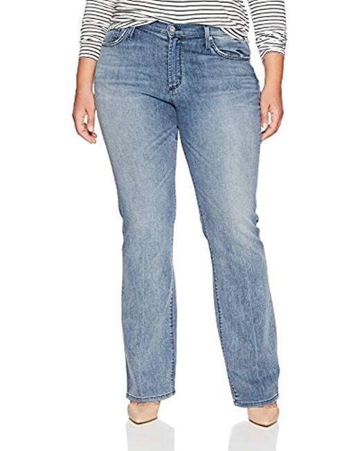 James Jeans Blue Plus Size Classic Boot Cut Jean In Bel-air