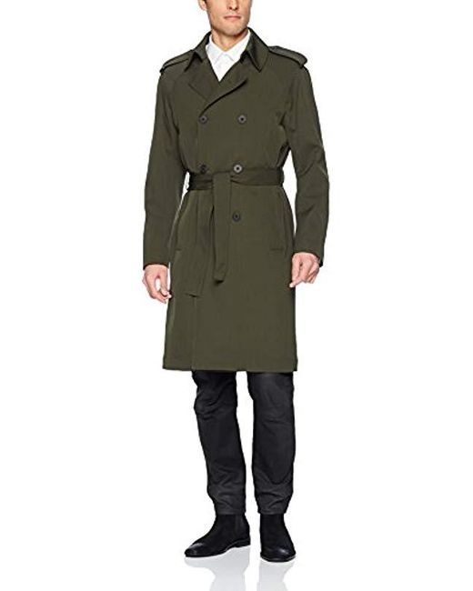 J.Lindeberg Green Tech Wool Trench Coat for men