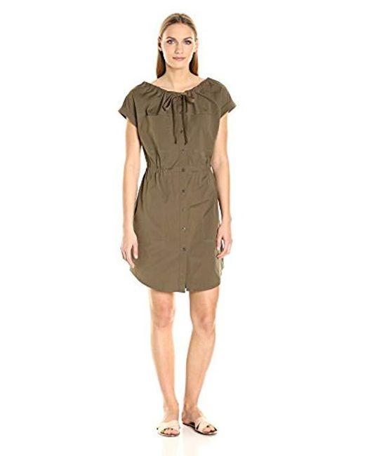 Theory - Green Laela Stretch Cotton Dress - Lyst