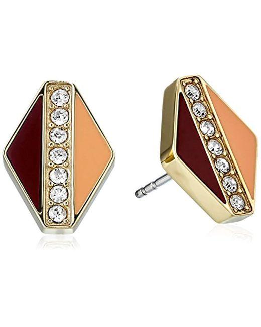 Fossil - Metallic Glitz Stud Earrings - Lyst