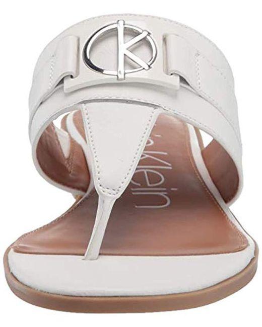 f3e2fd397589 ... Calvin Klein - Multicolor Farley Flat Sandal - Lyst ...