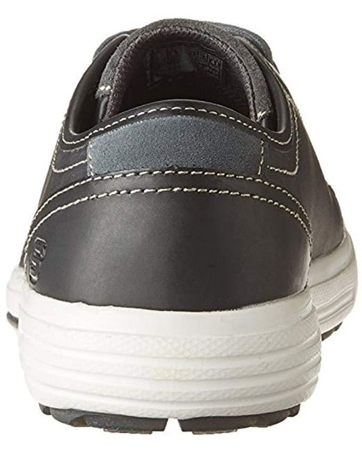 Skechers Leather Porter Ressen Oxford In Black Leather