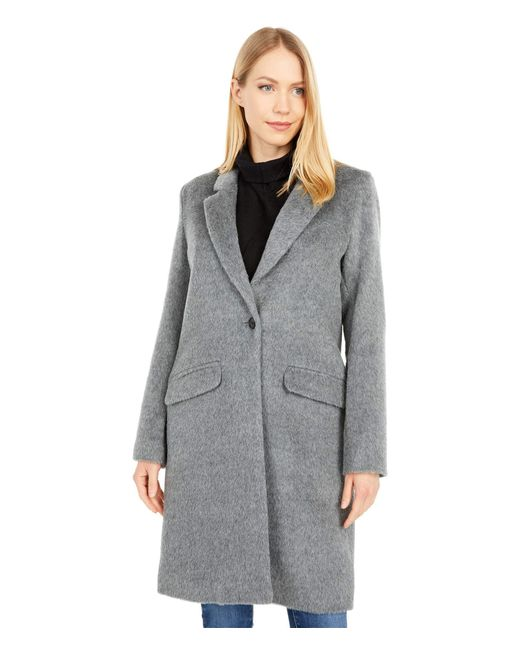 Cole Haan Gray Womens Single Breast Classic Houndstooth Jacket,grey,8