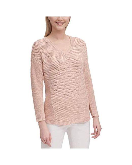 Calvin Klein Multicolor V-neck Open Stitch Sweater