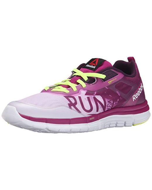 c279c736d1c Lyst - Reebok Zquick Soul Gp Running Shoe in Purple - Save 6%