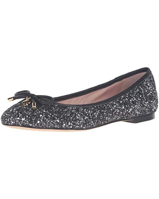 3a8ecd62fde7 Kate Spade - Metallic Willa Ballet Flat - Lyst ...