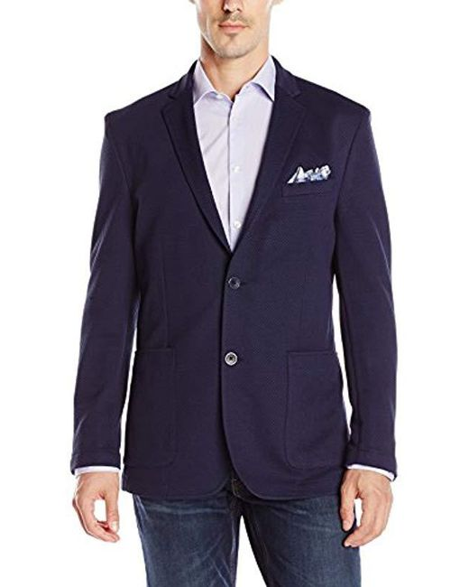 Vince Camuto - Blue Mesh Air Jacket for Men - Lyst