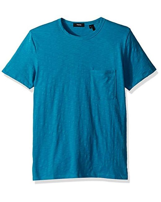Theory - Blue Essential Pocket Tee for Men - Lyst