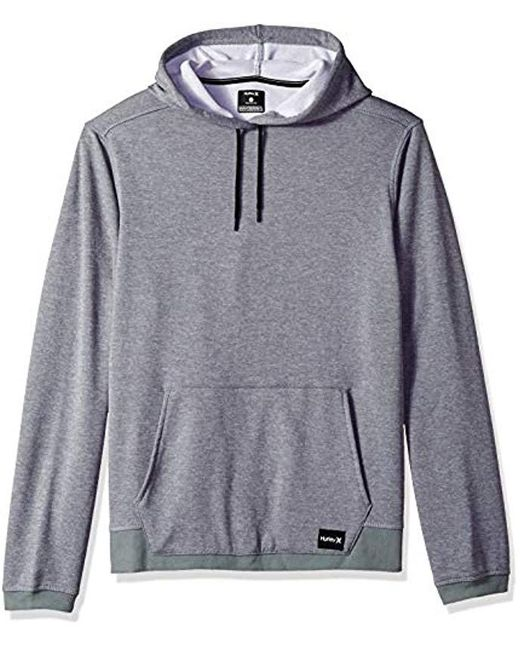 Hurley Gray Nike Dri-fit Disperse Fleece Hoodie for men