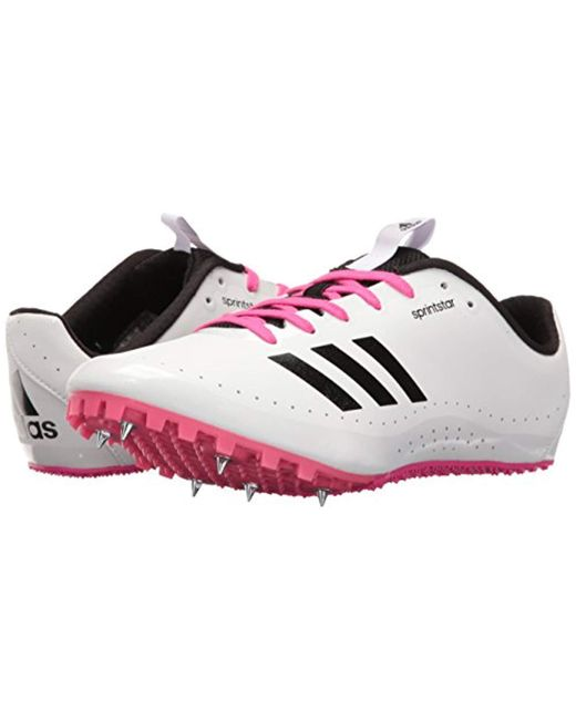 reputable site e59d0 9edef ... Adidas - Pink Sprintstar W Running Shoes With Spikes - Lyst ...