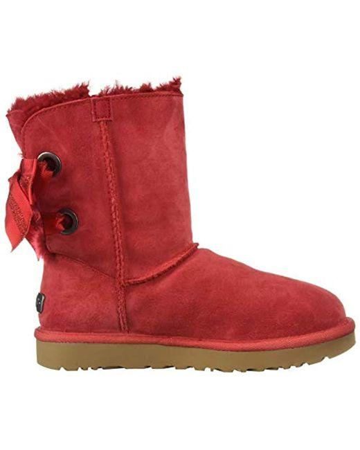 7e72008e4b0 Women's Red W Customizable Bailey Bow Short Fashion Boot