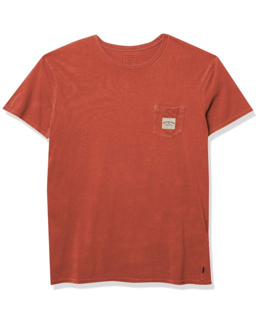 Quiksilver Red Sub Mission Short Sleeve Ii Tee for men