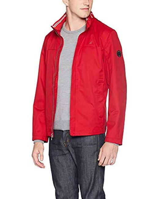 Nautica Classic Fit Embroidered Levy Bomber Jacket for men