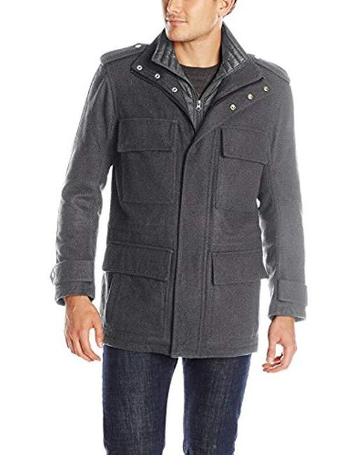 Marc New York Gray Libert Wool Four-pocket Coat for men