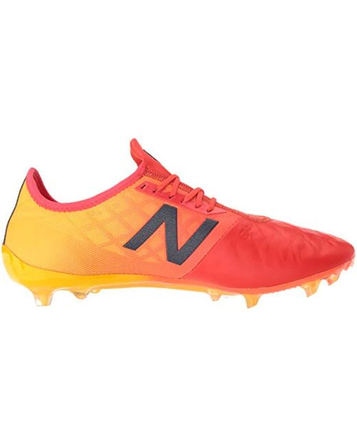 63324c0e8bb5f ... New Balance Red Furon 4.0 Pro Leather Fg Football Boots for men ...