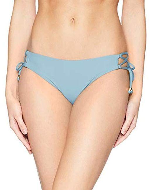 Ella Moss Blue Lace Up Swimsuit Bikini Bottom