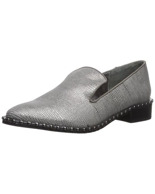 Adrianna Papell Gray Prince Oxford Flat