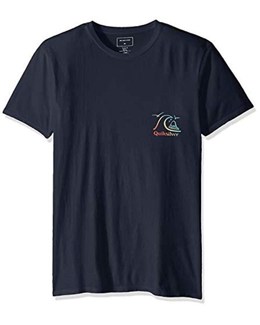 Quiksilver Blue Faded Potential Short Sleeve Tee for men