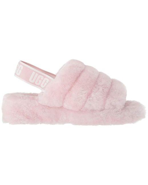 c93270c37d5 Women's Pink Ugg Fluff Yeah Genuine Shearling Slide Slipper