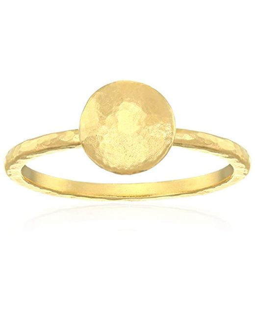 "Gurhan - Metallic ""lentil"" 24k Gold Ring, Size 7 - Lyst"