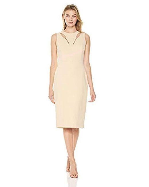 Ivanka Trump - Natural Chest Slit Dress - Lyst