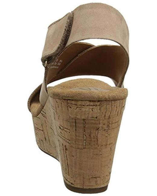 5dad05d660 Lyst - Clarks Caslynn Shae Wedge Sandal in Brown - Save 81%