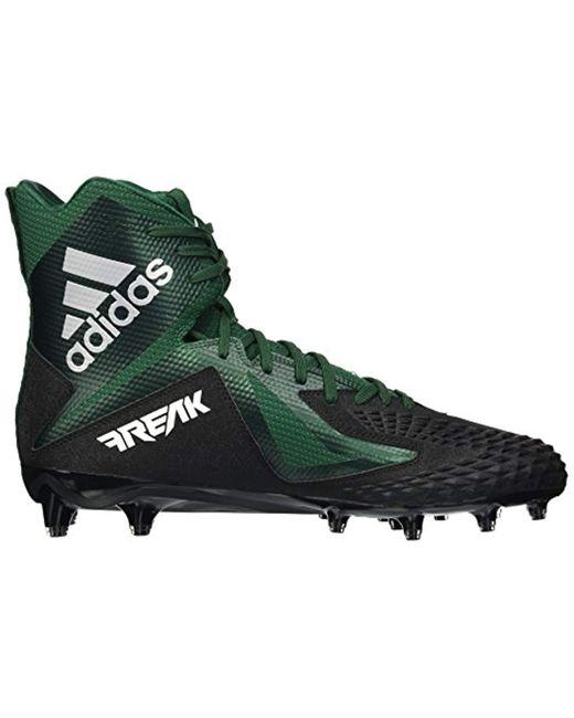 c14c0495c3a84 Men's Freak X Carbon Mid Football Shoe, Core Black/white/dark Green, 18 M Us