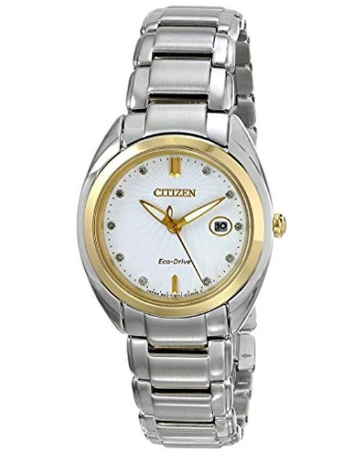 Citizen - Multicolor Eco-drive Diamond Accent Watch With Date, Em0314-51a - Lyst