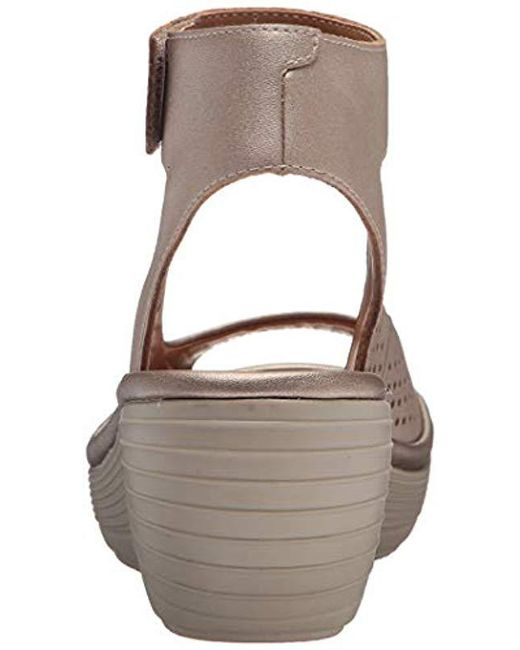 b956c0dcc65f Lyst - Clarks Reedly Salene Wedge Sandal in Brown - Save 60%