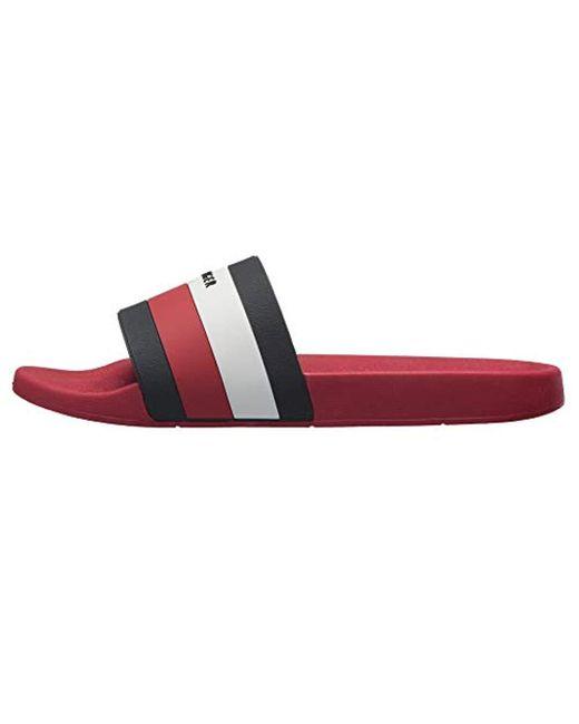 a526f49d7 ... Tommy Hilfiger - Red Earthy Slide Sandal for Men - Lyst ...