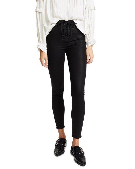 Hudson Jeans Womens Bullocks High Rise Lace Up Super Skinny 5 Pocket Jean