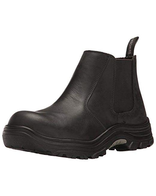 Skechers - Black For Work Burgin Glennert Boot for Men - Lyst