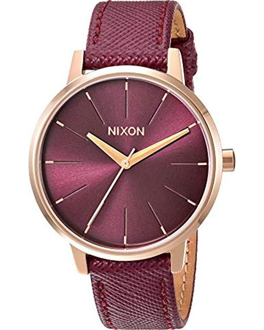 b3b785329 Nixon - Metallic Kensington Stainless Steel Watch With Leather Band - Lyst  ...