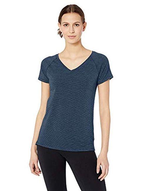 Amazon Essentials Blue Studio V-neck T-shirt