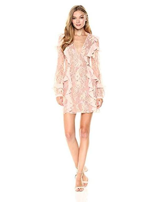 For Love & Lemons - Pink Bumble Long Sleeve Dress - Lyst