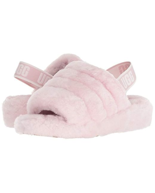9b6de5f1497 Women's Pink Ugg Fluff Yeah Genuine Shearling Slide Slipper
