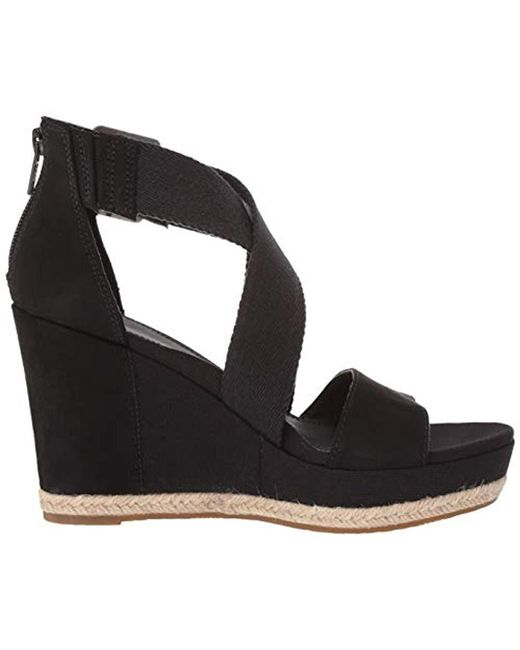 67fd31bafba Women's Black Calla Wedge Sandal
