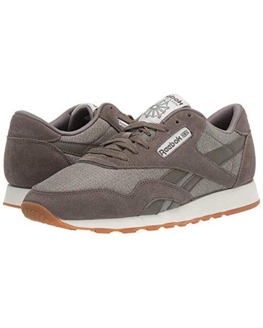 98190c6a Men's Gray Classic Leather Nylon M Sneaker
