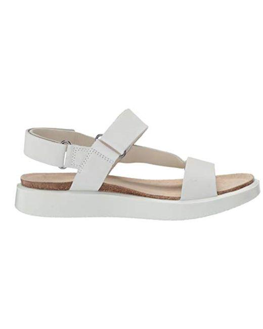 Women's White Corksphere Strap Sandal