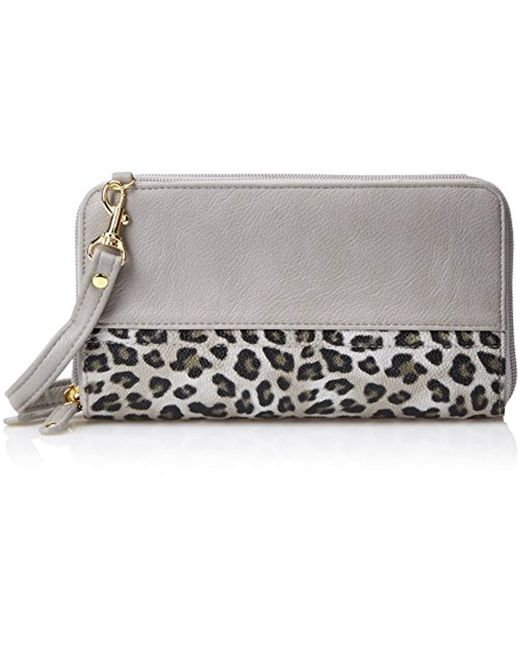 Buxton - Multicolor Posh Cheetah Double Zip Organizer - Lyst