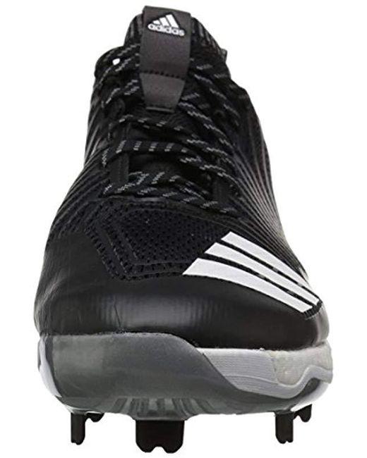 sports shoes da63d fe53c ... Adidas - Freak X Carbon Mid Baseball Shoe, Black white metallic Silver,  ...