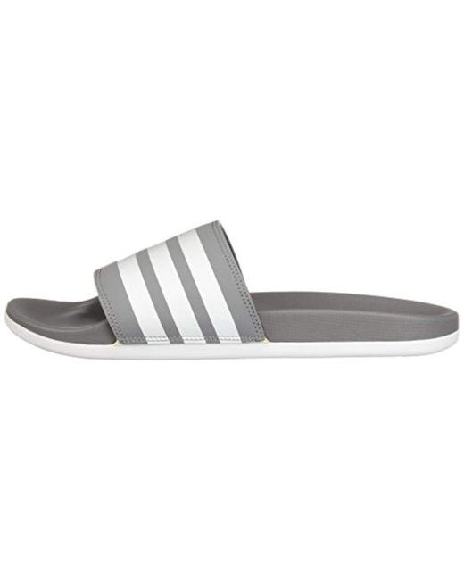 7fedee64eb2c ... Adidas Originals - Gray Adidas Adilette Comfort Slide Sandal