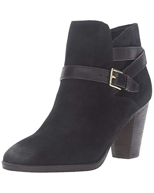 Cole Haan Black Hayes Strap Ankle Bootie