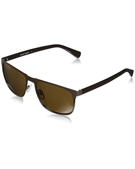 00bf3d7be01da Cole Haan - Brown Ch6034 Metal Rectangular Sunglasses
