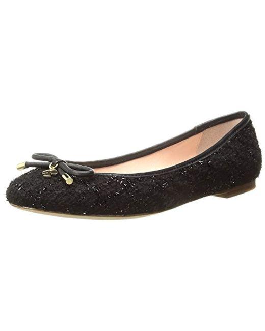 Kate Spade - Black Willa Tweed Ballet Flat - Lyst