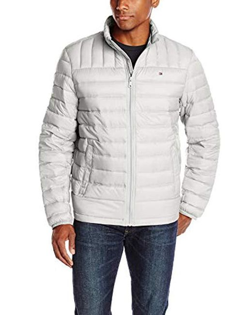 23dfd4b5 Tommy Hilfiger - Gray Packable Down Jacket (regular And Big & Tall Sizes)  for ...