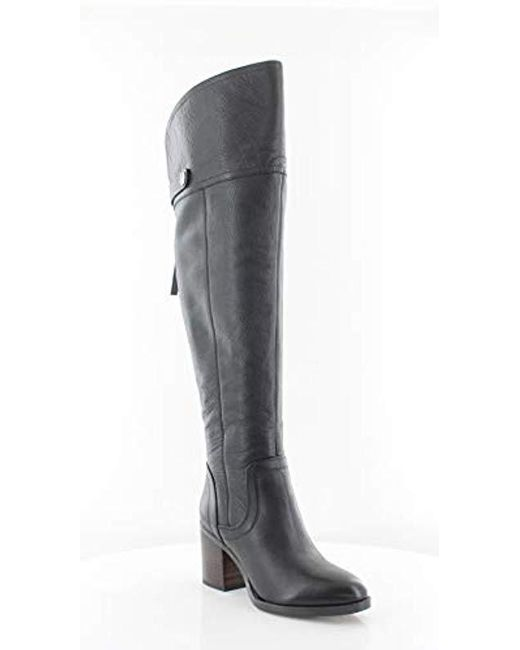 55657c1ae55 Lyst - Franco Sarto Ollie Wide Calf Over The Knee Boot in Black ...